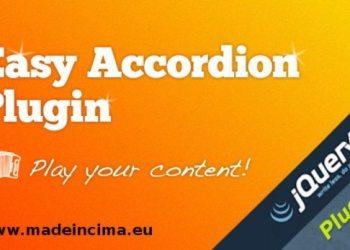 Easy Accordion - jQuery Plugin