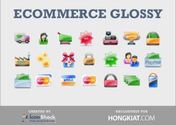 Ecommerce-Glossy-free-icons-set
