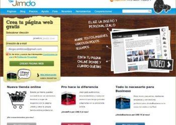 Jimdo - Herramienta online paracrear paginas web gratis