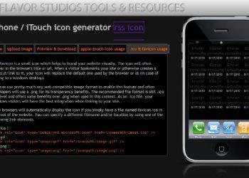 iPhone icon generator - servicio web