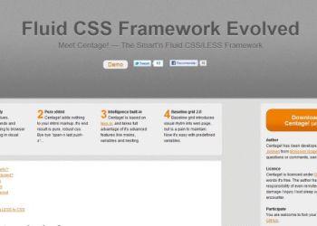 Centage - Fluid CSS Framework Envolve