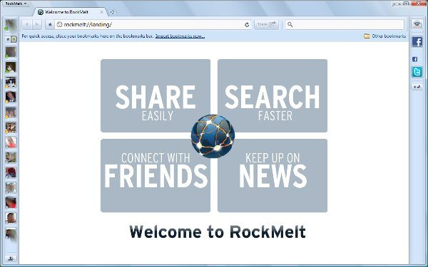 RockMelt - Navegador web social