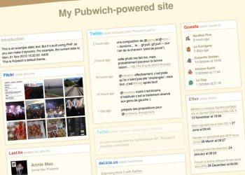 Pubwich crear paginas web personalizadas