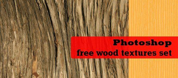 Photoshop free wood textures set
