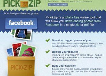 Pick and Zip - descargar las fotos de Facebook