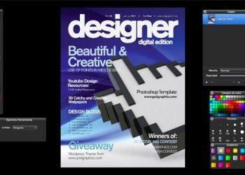 Blue Magazine Cover - para descargar gratis en formato PSD de Photoshop