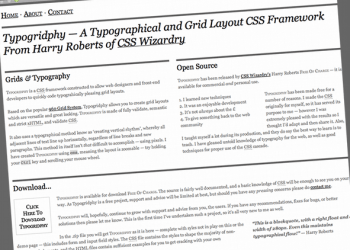 Typogridphy — A Typographical and Grid Layout CSS Framework From Harry Roberts of CSS Wizardry (20110105)