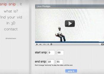snipsnip.it - servicio online para recortar y compartir videos de Youtube