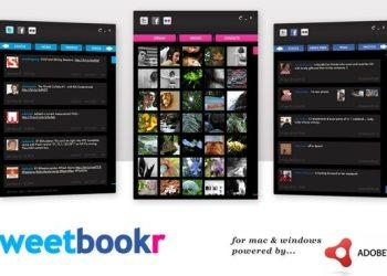 tweetbookr - Cliente para redes sociales (Facebook, Twitter, Flickr)
