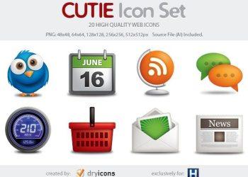 CUTIE icon set - Iconos web