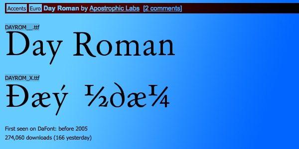 Day Roman - free font