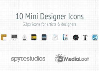 10 Mini Designer Icon Set