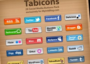 TabIcons - 28 Social Media Buttoms