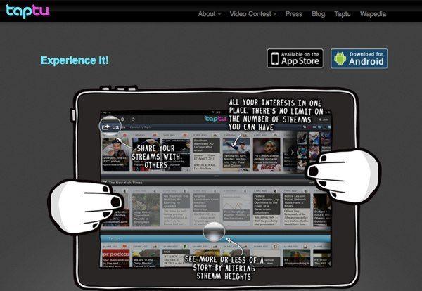Taptu lector de noticias para Android y iPhone