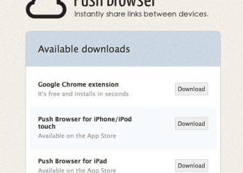 Push Browser - servicio online para compartir enlaces