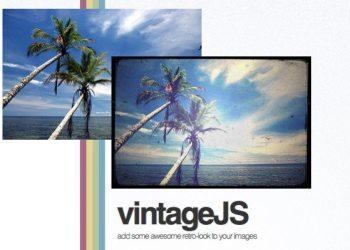 VintageJS biblioteca Javascript para efecto vintage