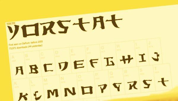 Yorstat free font