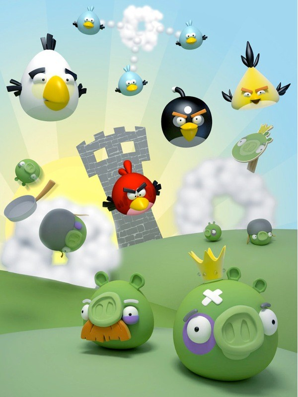 Angry Birds scene