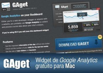 GAget - Widget de Google Analytics gratuito para Mac