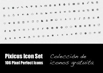 Pixicus Icon Set: colección de iconos grautita