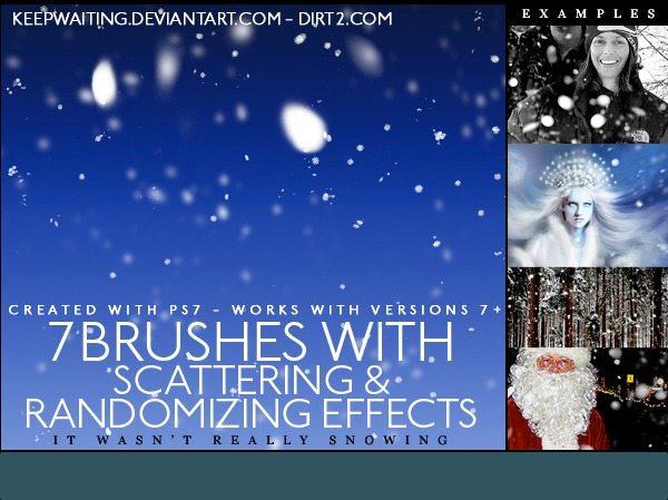 Nieve y escarcha - Photoshop brushes