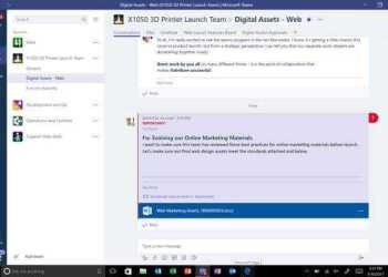 Microsoft Teams - Interface