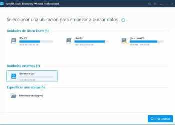 EaseUS Data Recovery - recuperar archivos borrados