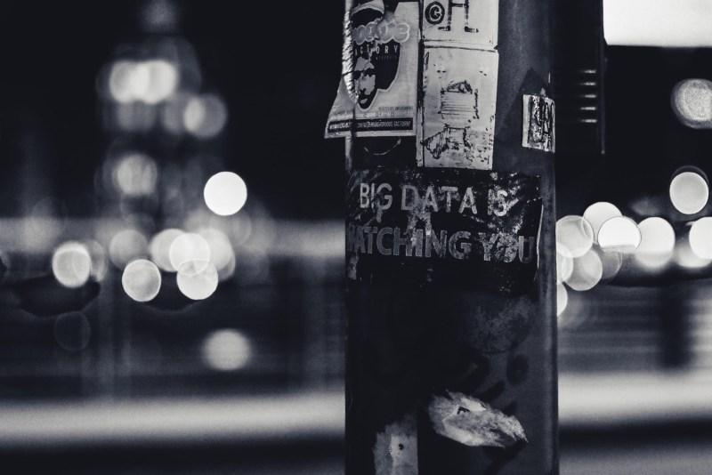 Cartel con la frase de big data