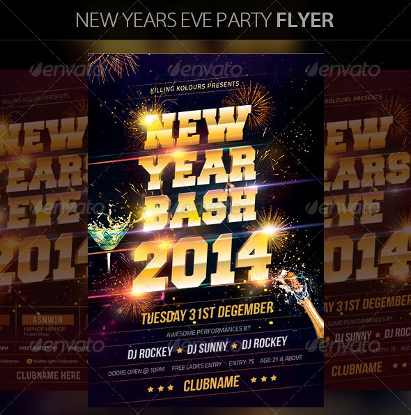 2014 Eve New Year Flyer Template Party S