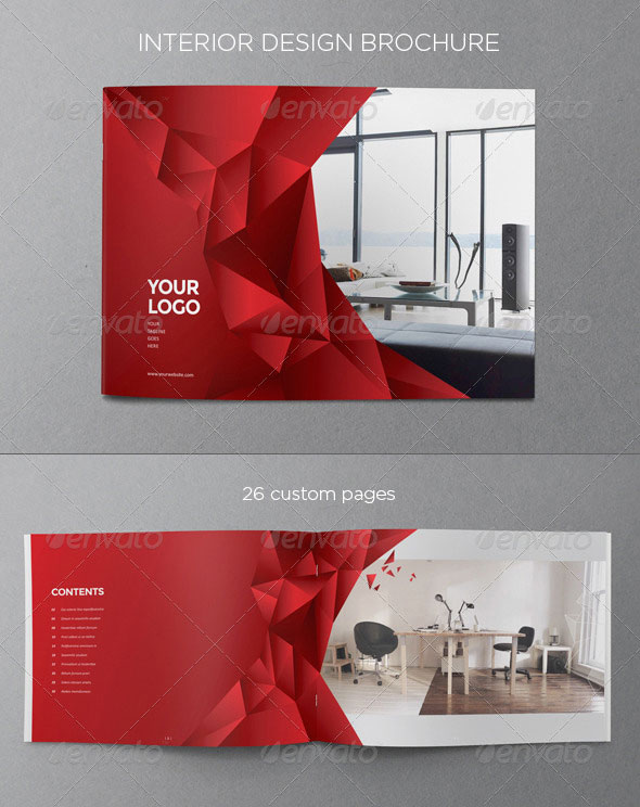 interior design brochure template free - interior design brochure