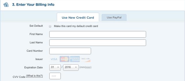 Enter your billing info - hostgator