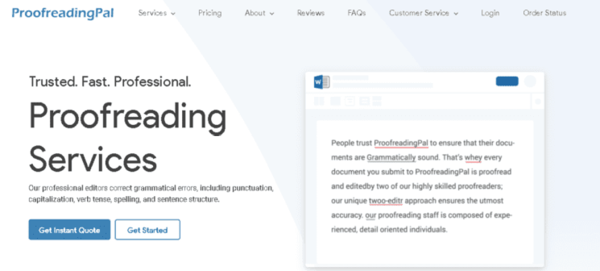 Proofreading Pal review