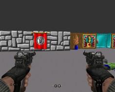 Auch in dieser Version wurden die verfassungsfeindlichen Symbole durch das unproblematische Wolfenstein-Symbol ersetzt.