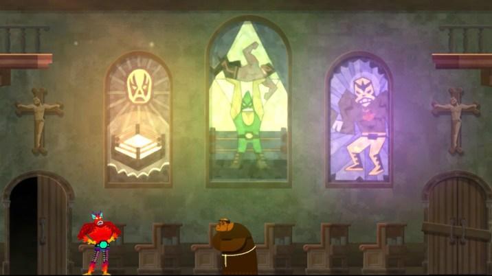 In der Dorfkirche findet in den Kirchenfenstern die sprichwörtliche Anbetung der Heldenvorbilder statt.