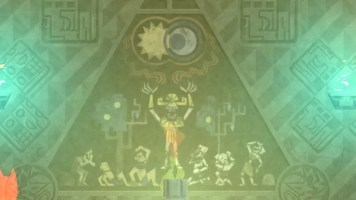 Ich dachte zuerst an die Illuminatenpyramide, anschließend an ein Gemälde von Hieronymus Bosch.
