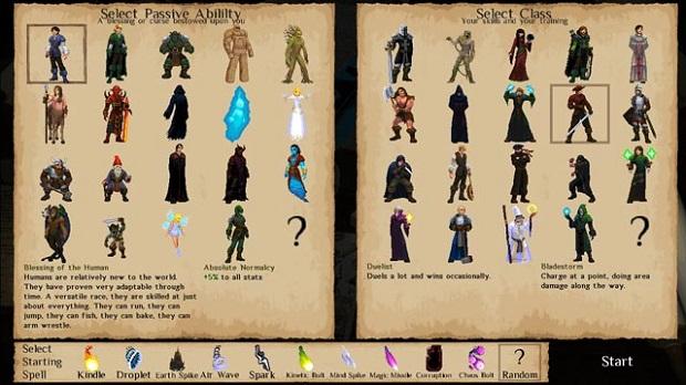 Runers character creation