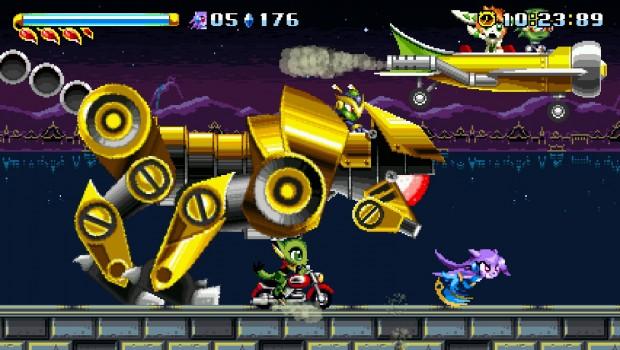 Mecha-Panter, come tutti i boss in corsa, offre un combattimento davvero adrenalinico.