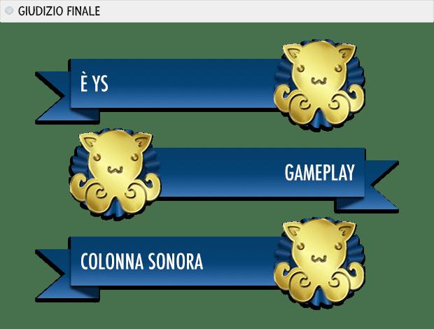 Ys VI: premi: è Ys oro, gameplay oro, colonna sonora oro.
