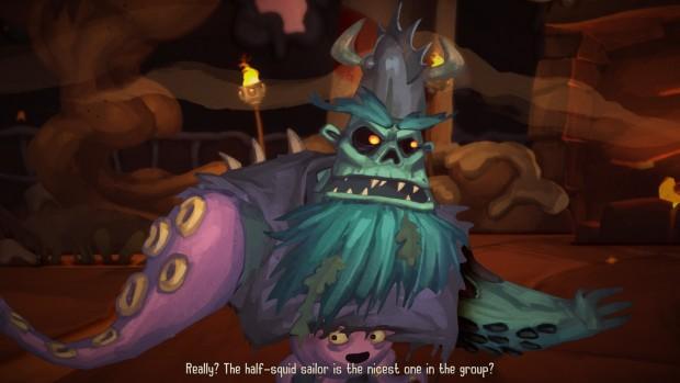 Seagurd è mezzo fuso con un polipetto viola. Ovviamente è il nostro personaggio pereferito.