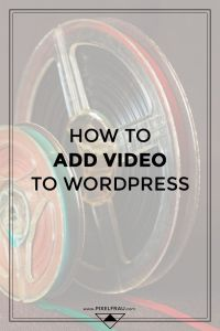 how to add video to wordpress