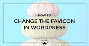 wordpress change favicon