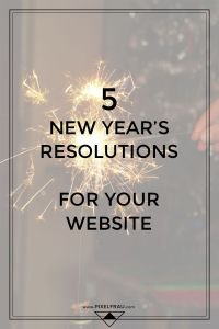 new year's resolutions for your website