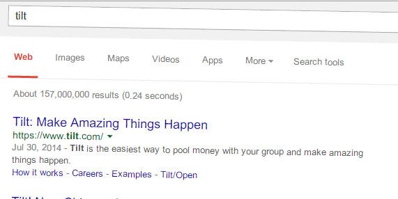 googlesearch tilt