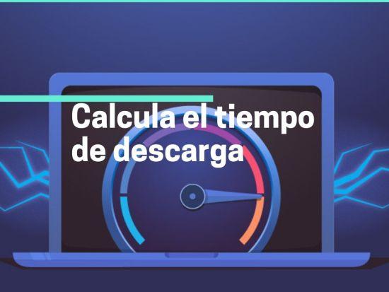 Calcula el tiempo de descarga de un archivo
