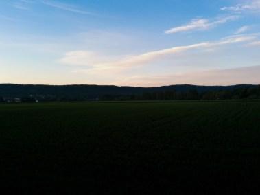 Sonnenuntergang am großen Weserbogen in Bad Oeynhausen