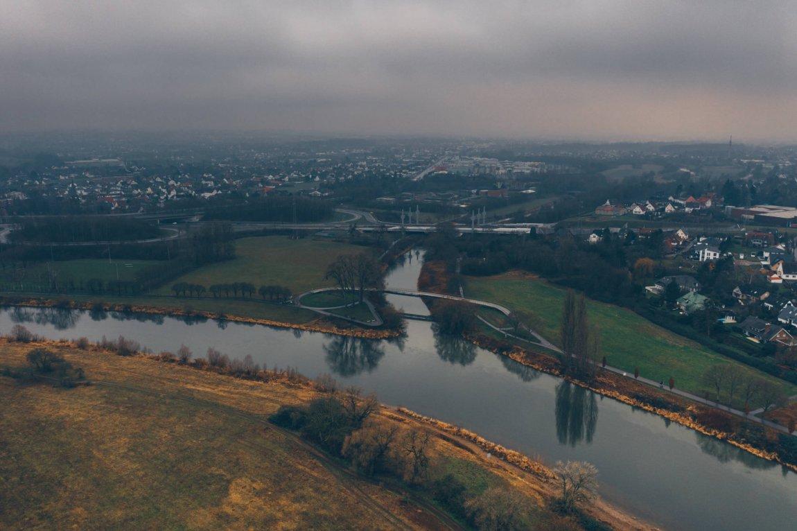 Wo die Weser einen großen Bogen macht