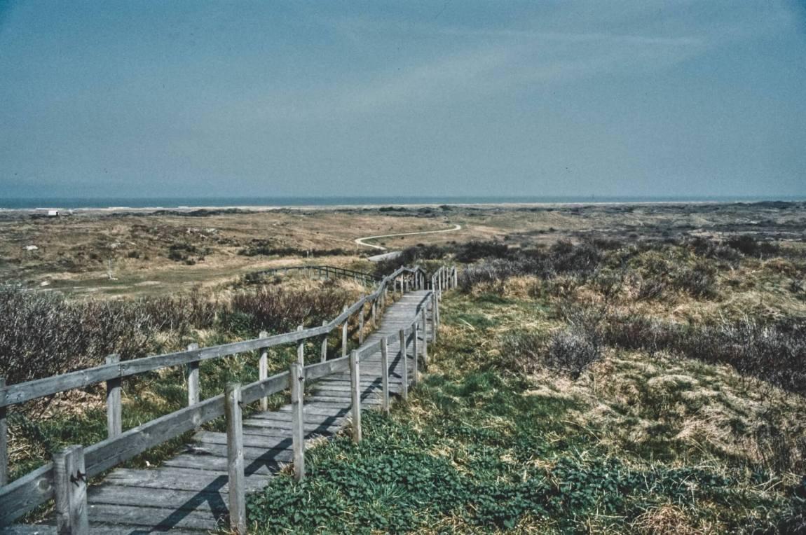 Von früher: Ameland im April 1989