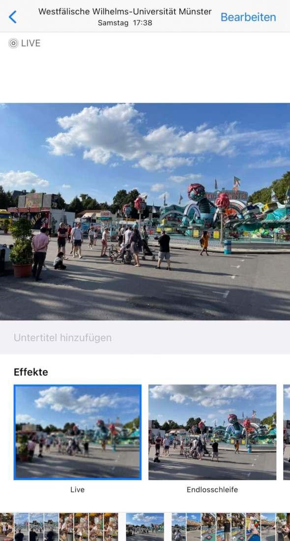 Live Photo Langzeitbelichtung mit dem iPhone