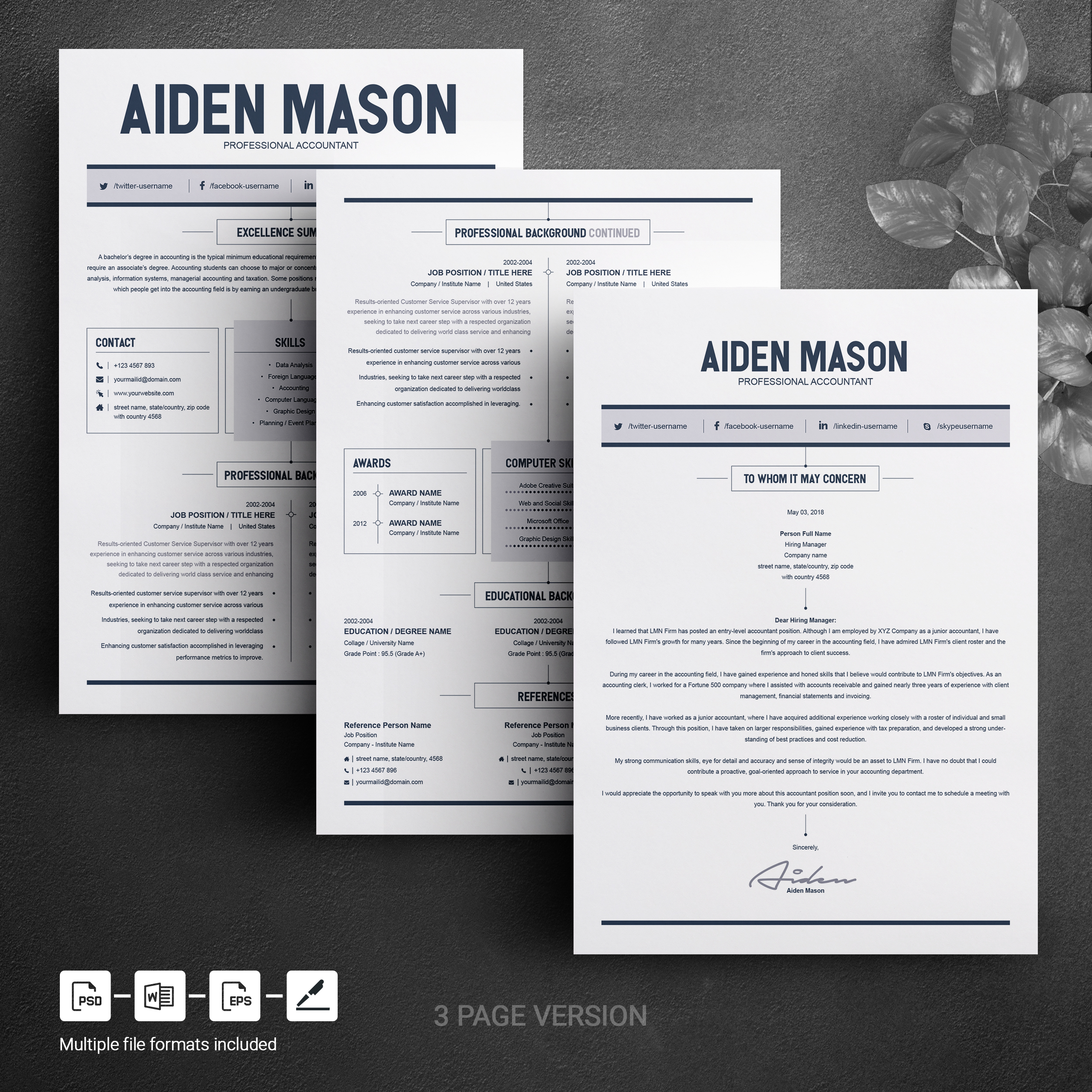 free for educational purpose.created by:file size: 2 Page Resume Template Free Resumes Templates Pixelify Net