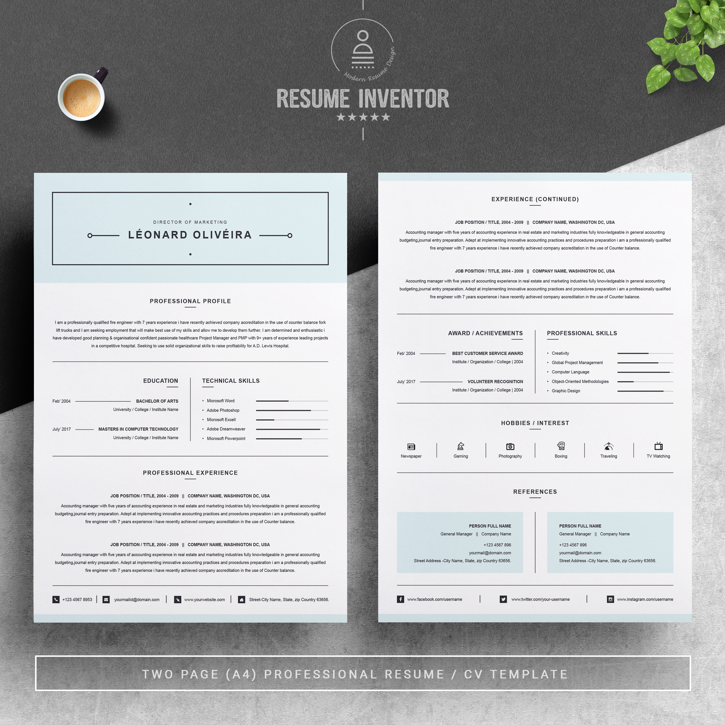 Microsoft word has several features you can customize, including templates that represent your personalized stationery. Simple Clean Resume Template Word Free Resumes Templates Pixelify Net